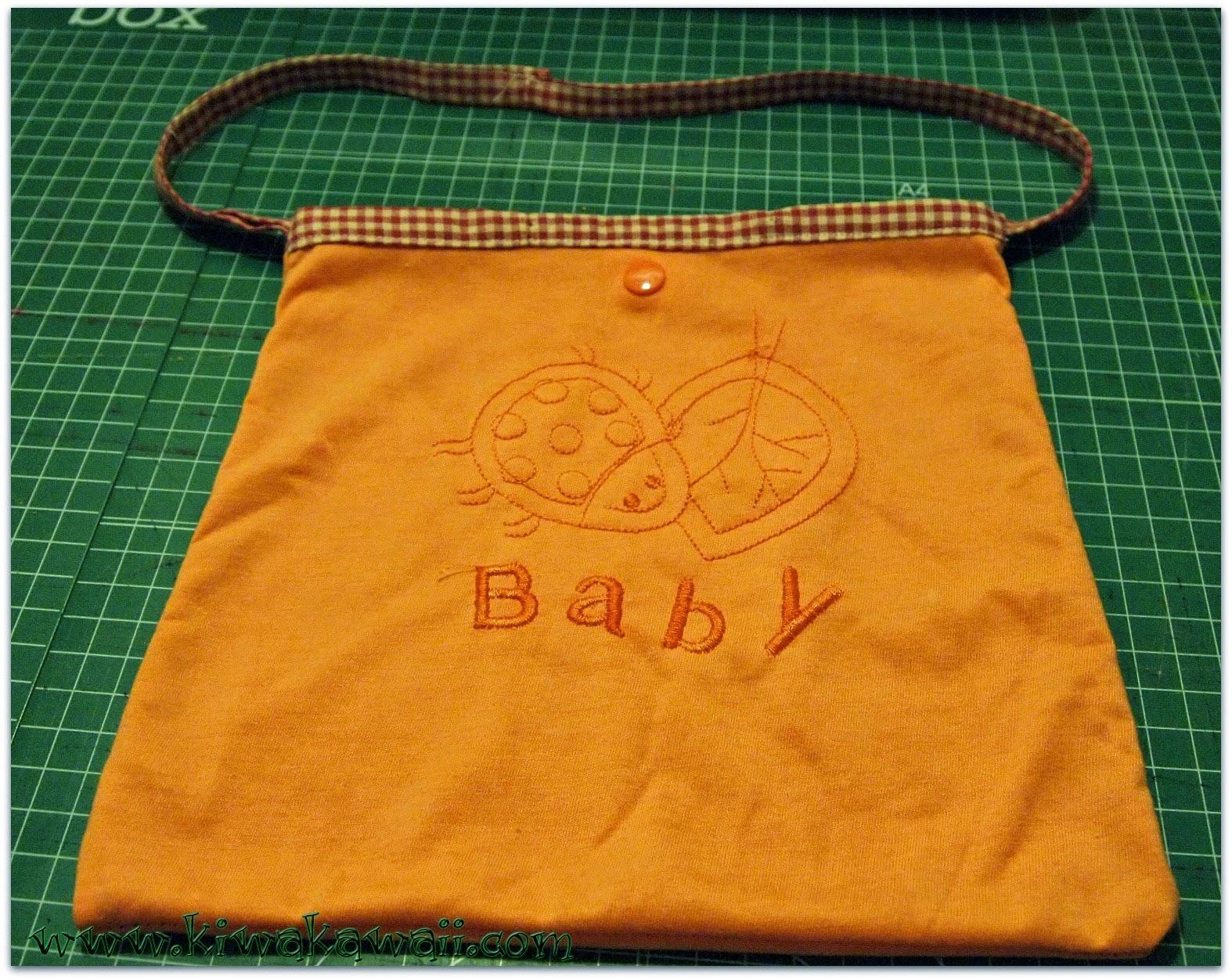 Convertir camisetas de bebé en bolsitas para el almuerzo