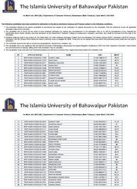 IUB Morning/Evening/Self Finance  Merit List of Bachelor/Master Spring-2021 and Last Semester Merit list of Fall-2020