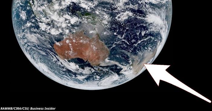 Шокирующие фото из космоса показывают, что сейчас происходит в Австралии