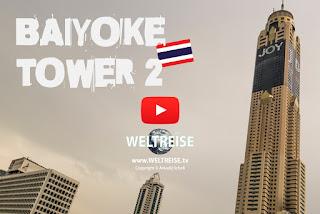 World trip in Thailand. Baiyoke Tower 2 in Bangkok. Arkadij World travel.