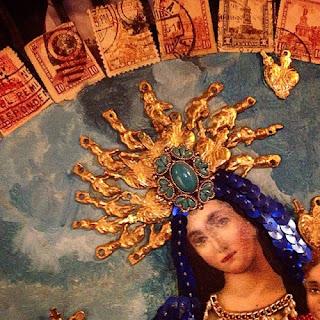 Virgen María que decora el Mesón  de la Abundancia en Real de Catorce