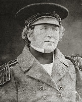 Fotografía de Francis Crozier, capitán del HMS Terror