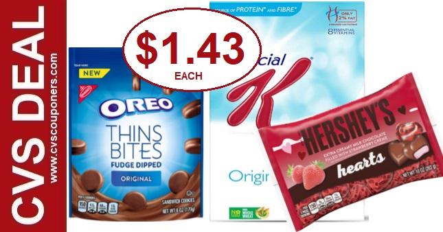Hershey's, Kellogg's & Oreo CVS Deal
