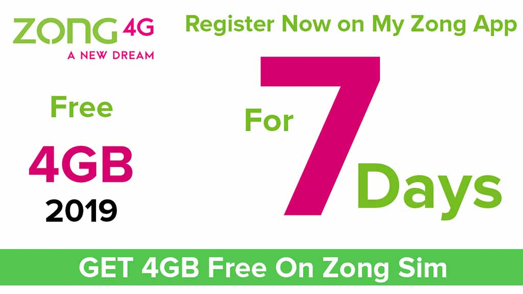 Zong Free Internet 2020