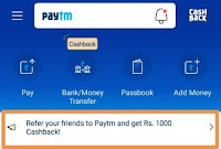 refer & Earn On Paytm & Earn Cashback