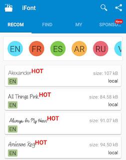 iFont app