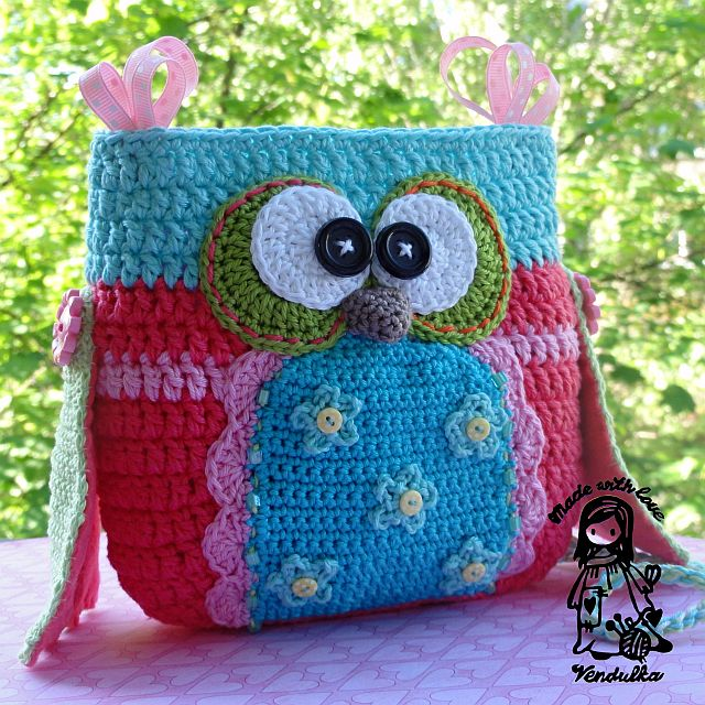Crochet owl purse pattern by VendulkaM