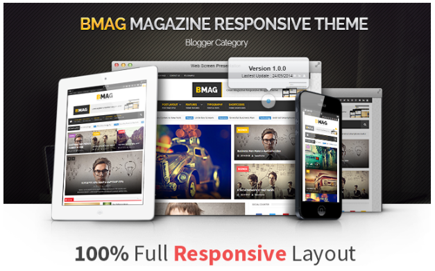 BMAG Template Blogger Magazine Responsive