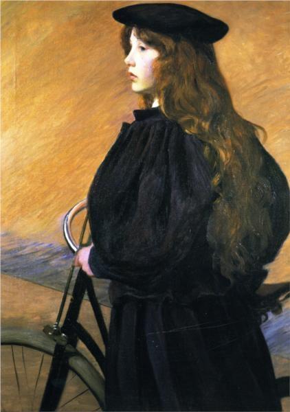 Lilla Cabot Perry Молодая велосипедистка