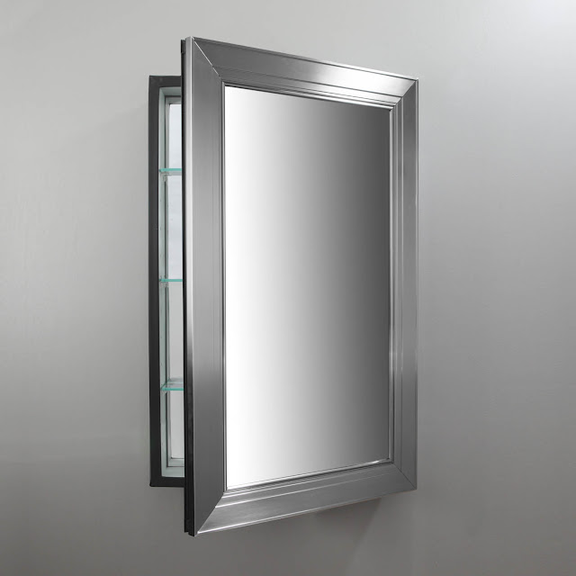 Bathroom mirror medicine cabinet F