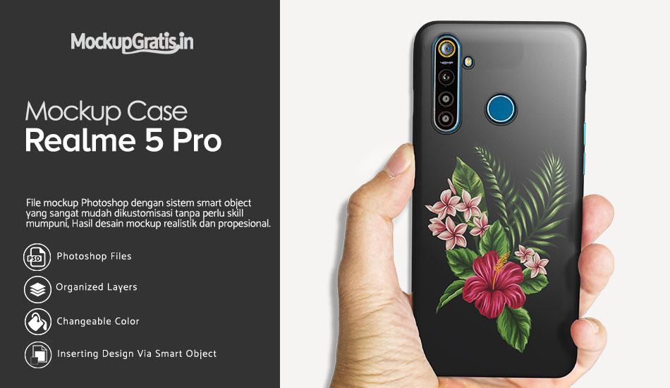 Mockup Gratis Hardcse 3D Realme 5 Pro
