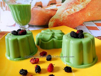 RESEP PUDING SUSU GREEN TEA ENAK SEDERHANA