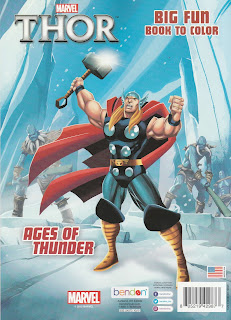 Back cover of Thor Big Fun Book To Color: Ages of Thunder