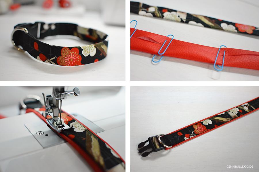 Hundeblog Genki Bulldog - Selbstgemachtes Halsband aus Stoff für Hunde