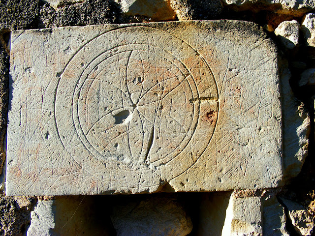 Witches mark.  Indre et Loire, France. Photographed by Susan Walter. Tour the Loire Valley with a classic car and a private guide.