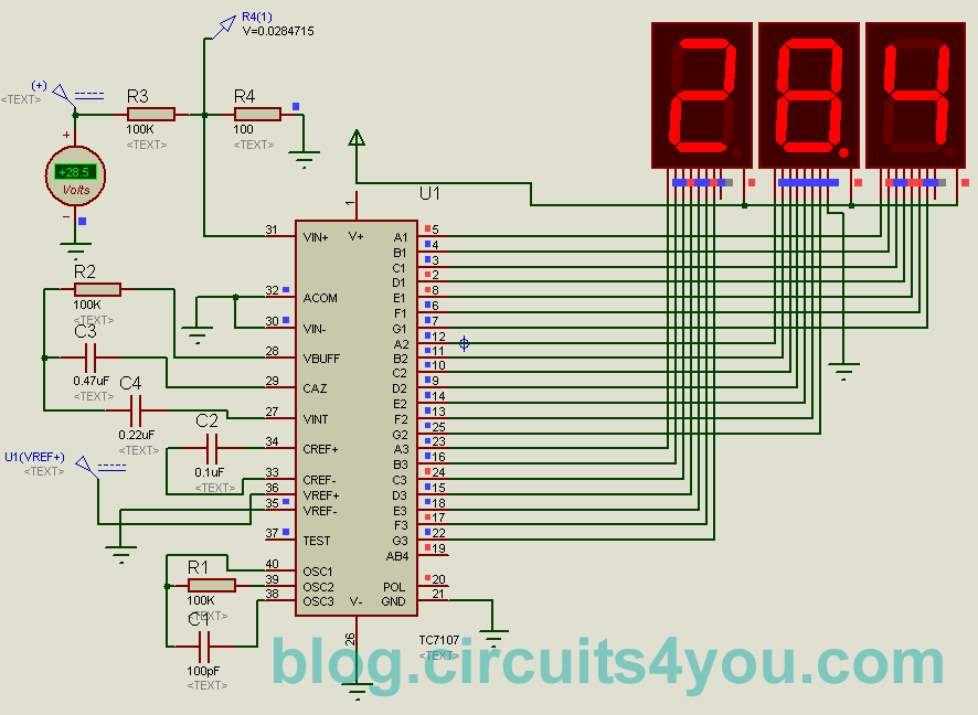 Voltmeter Circuit Using Led Electronic Circuits And Diagram