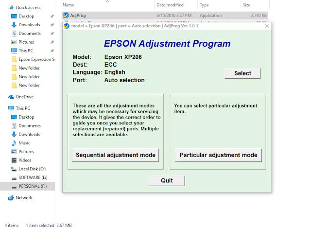 Epson  XP-206RESETTER