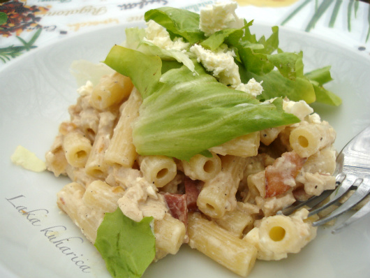 Turkey or chicken pasta by Laka kuharica: utterly delicious and  nutritious way to use Sunday leftovers!