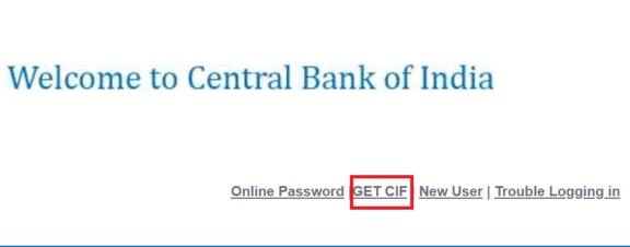 How to get CIF number of CBI