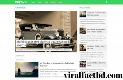 VioMagz Premium Blogger Template Free