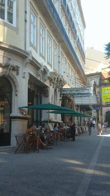 esplanada do Café a Brasileira do Porto