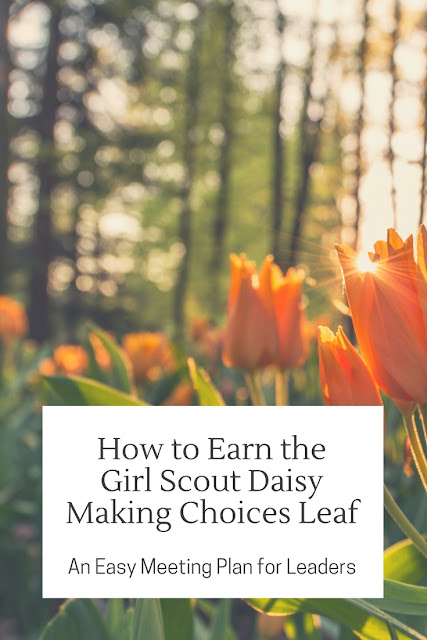 How to Earn the Daisy Girl Scout Making Choices Leaf An Easy Meeting Plan
