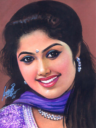 Beautiful Women Paintings by Famous and Top Indian Artist Oviyar Maruthi