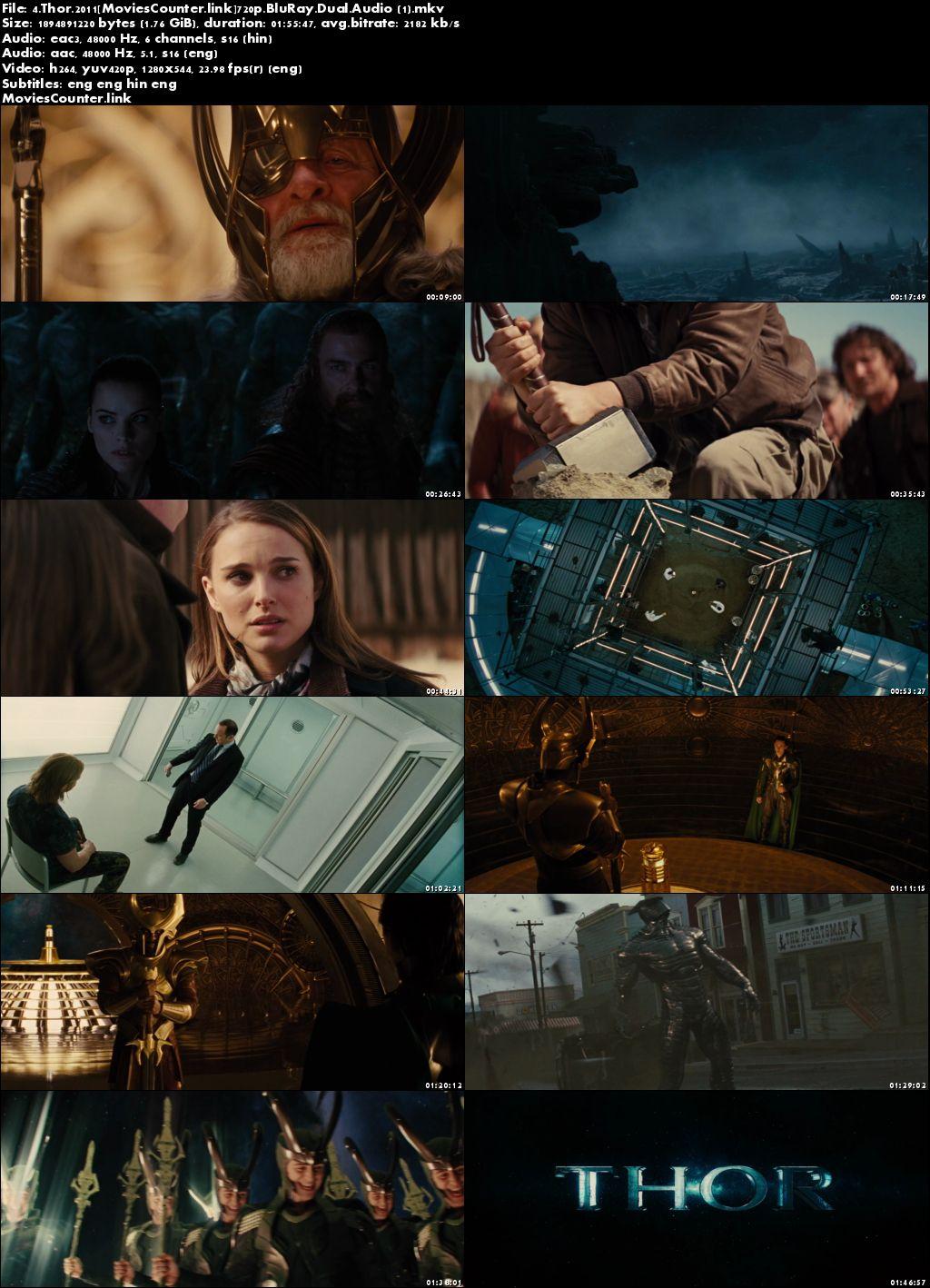 Screen Shot Thor 2011 Dual Audio HD 720p