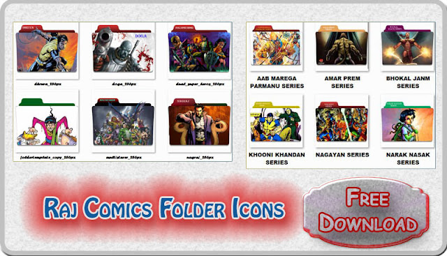 Raj Comics Superheroes Folder Icons Free Download