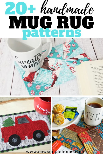 Great list of free or inexpensive mug rug patterns and coaster sewing projects.