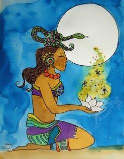 mito de la diosa de la luna