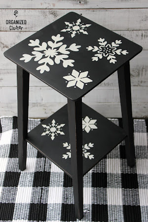 Thrift Shop Upcycled Snowflake Table