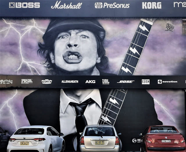 Alexandria Street Art | Mural of Angus Young by Sid Tapia