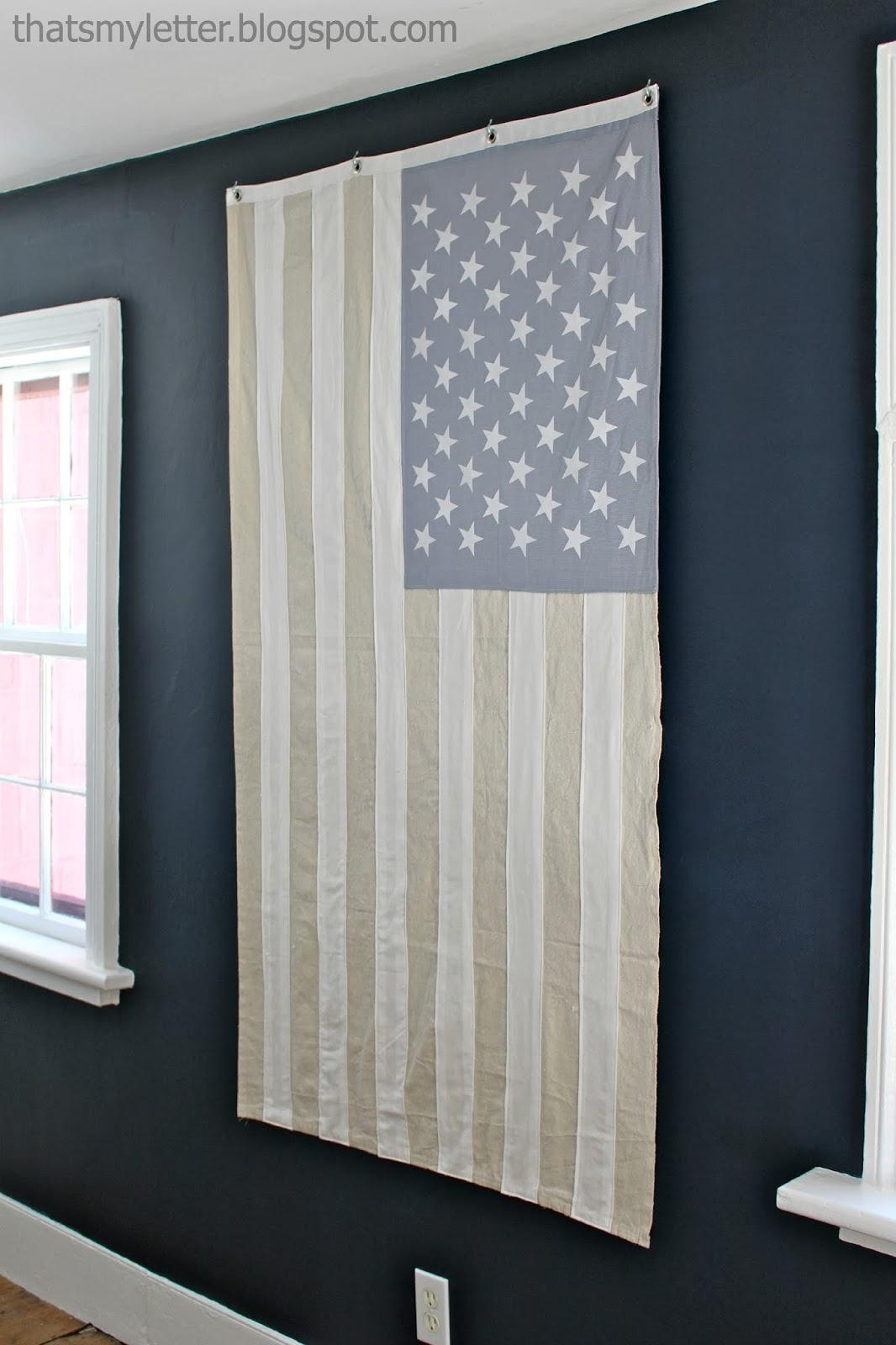 diy neutral American flag