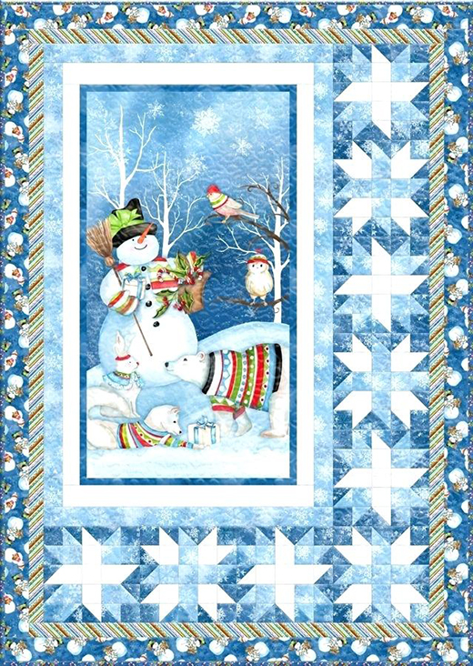 Snowy Friends Quilt Free Pattern designed By Nancy Mink for Bear Creek Quilting Company