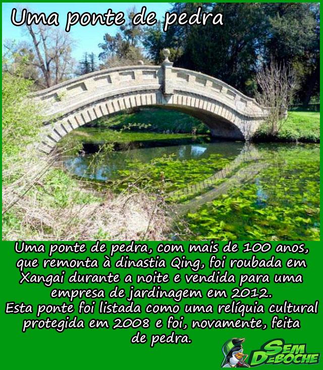 Uma ponte de pedra