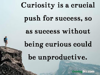 Curiosity is a crucial push for success, so as success without being curious could be unproductive,