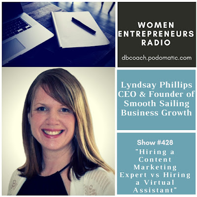 Hiring a Content Marketing Expert vs Hiring a Virtual Assistant Hiring a Content Marketing Expert VS Hiring a Virtual Assistant amongst Lyndsay Phillips of Smooth Sailing Business Growth on Women Entrepreneurs Radio™