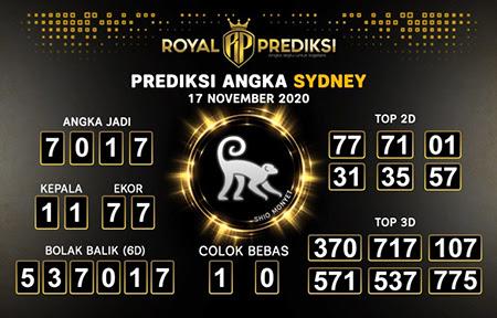 Royal Prediksi Sidney Selasa 17 November 2020