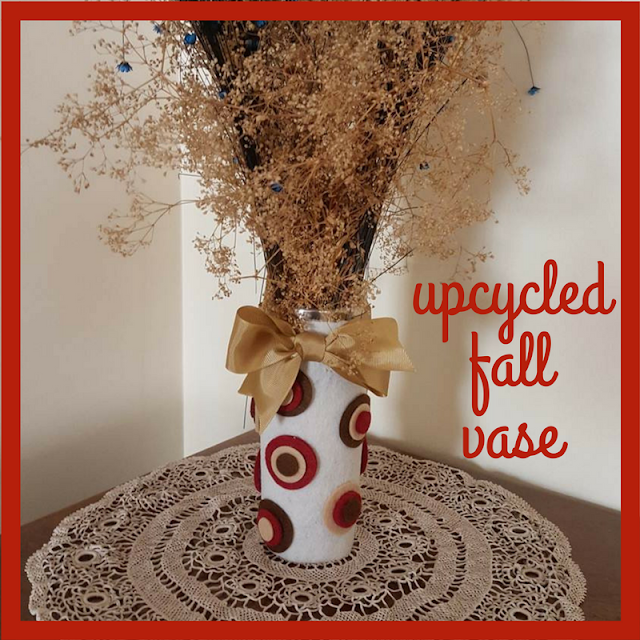 Upcycled fall vase