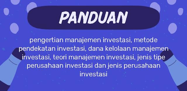 manajemen investasi