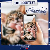 Logo Vitakraft Foto contest ''Cucciolando'': vinci gratis pacchi di prodotti (25€ ogni premio)
