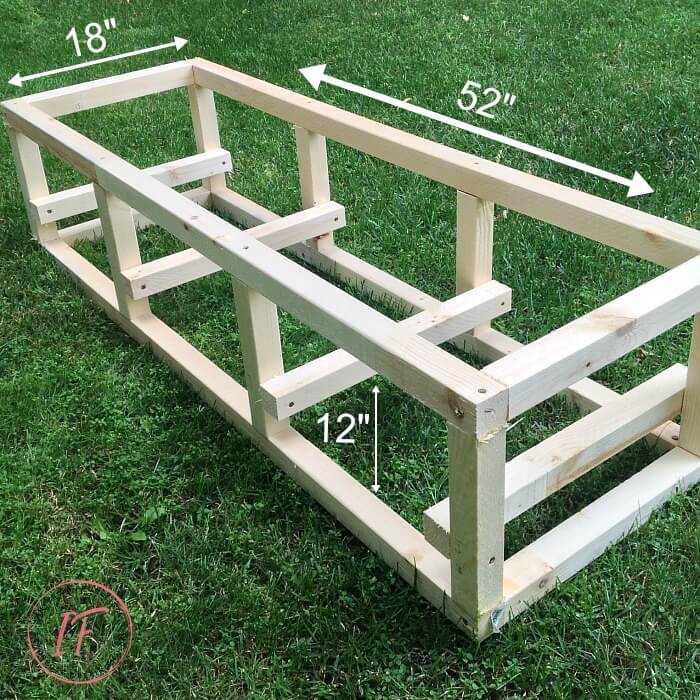 DIY Water Wall Base Frame