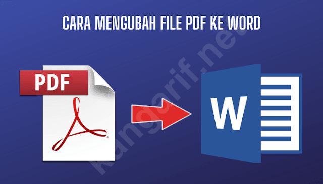 cara mengubah file pdf menjadi word