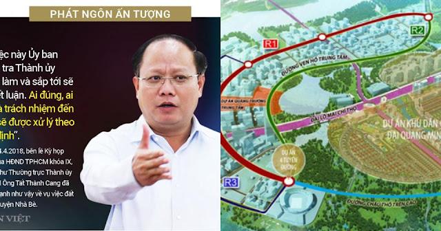Ông Tất Thành Cang liên quan gì đến 4 tuyến đường 12.000 tỷ ở Thủ Thiêm?