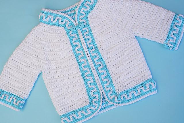2 - Crochet Imagen Chaqueta a crochet ribeteada con puntada mosaico por Majovel Crochet
