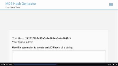generate hash code on password