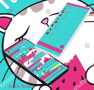 White Cat Theme For YOWhatsApp & Fouad WhatsApp By Driih Santos