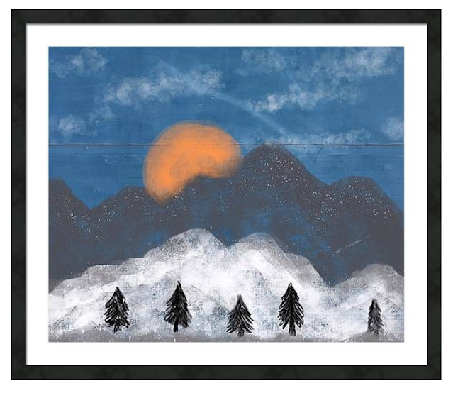 Mountain print by Mark Taylor