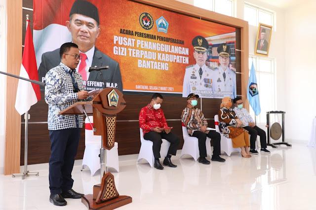 Diprakarsai Ilham Azikin, Menko PMK Ajak Daerah Lain Replikasi Gedung Pelayanan Gizi Bantaeng